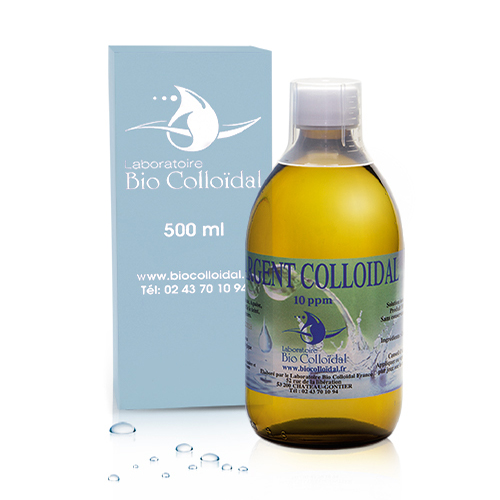 Argent Colloidal - Flacon 500ml 10PPM