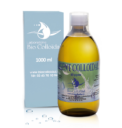 Argent Colloidal - Flacon 1L 10PPM