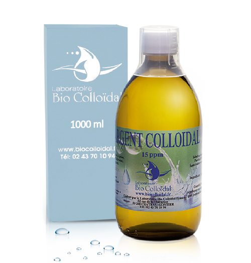Argent Colloidal - Flacon 1L 15PPM